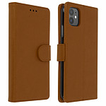 Avizar Etui folio Marron pour Apple iPhone 11