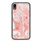 1001 Coques Coque silicone gel Apple iPhone XR motif Marbre Rose