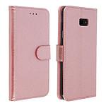 Avizar Etui folio Rose Champagne pour Samsung Galaxy J4 Plus