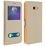 Avizar Etui folio Dorée pour Samsung Galaxy J4 Plus