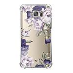LA COQUE FRANCAISE Coque Samsung Galaxy S7 anti-choc souple angles renforcés transparente Pivoines Violettes