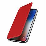 Avizar Etui folio Rouge Miroir pour Apple iPhone X , Apple iPhone XS