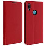 Avizar Etui folio Rouge pour Honor 8A , Huawei Y6 2019 , Huawei Y6S