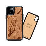 Woodstache Coque en bois pour iPhone 8 Plus Flow