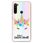 1001 Coques Coque silicone gel Xiaomi Redmi Note 8T motif Unicorn World