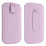 Avizar Etui slim Violet pour Tous les appareils de 130 mm de longueur et de 70 mm de largeur maximum