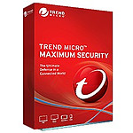 Trend Micro Maximum Security - Licence 1 an - 3 postes - A télécharger