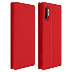 Avizar Etui folio Rouge Éco-cuir pour Samsung Galaxy Note 10 Plus