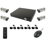 YONIS kit vidéo surveillance 4 caméras Noir Y-5148