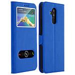 Avizar Etui folio Bleu Éco-cuir pour Huawei Mate 20 lite