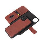 DECODED Folio detachable cuir iPhone 11 Marron