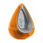 Station météo à eau H2O forme goutte - Orange - Otio