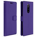 Avizar Etui folio Violet Éco-cuir pour Sony Xperia 1