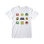 Nintendo - T-Shirt Super Mario Items - Taille L