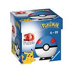 Pokémon - Puzzle 3D Pokéballs: Super Ball (54 pièces)