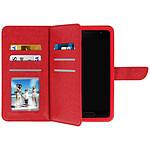 Avizar Etui folio Rouge pour Smartphones de 3.8' à 4.3'