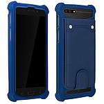 Avizar Coque Bleu Nuit pour Compatibles avec Smartphones de 3,8 à 4,3 pouces
