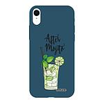 EVETANE Coque iPhone Xr Silicone Liquide Douce bleu marine After Mojito