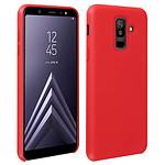Avizar Coque Rouge Semi-Rigide pour Samsung Galaxy A6 Plus