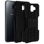Avizar Coque Noir Hyrbide pour Samsung Galaxy J6 Plus