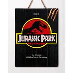 Jurassic Park - Tableau en bois WoodArts 3D Logo Jurassic Park 30 x 40 cm