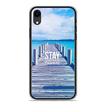 1001 Coques Coque silicone gel Apple iPhone XR motif Stay positive