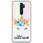 1001 Coques Coque silicone gel Oppo A5 2020 motif Unicorn World