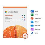 Microsoft 365 Personnel - Licence 1 an - Postes illimités - 1 utilisateur - A télécharger