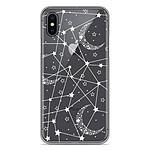 1001 Coques Coque silicone gel Apple iPhone XS Max motif Lignes étoilées