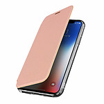 Avizar Etui folio Rose Champagne pour Apple iPhone X , Apple iPhone XS