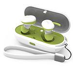 WEE'PLUG Ecouteurs intra-auriculaires sans fil i15 Blanc/Vert
