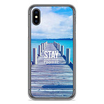 1001 Coques Coque silicone gel Apple iPhone XS Max motif Stay positive