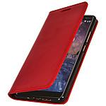 Avizar Etui folio Rouge pour Nokia 7 plus