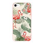 LA COQUE FRANCAISE Coque iPhone 7/8 Silicone Liquide Douce rose pâle Flamants Rose