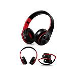 Inkasus Casque Bluetooth V4.0 - Noir et rouge