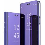 Destination télécom Etui pour Samsung S10 Plus folio effet miroir violet