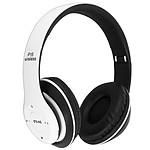 Casque Audio Sans Fil Bluetooth 4.0/jack 3.5 mm micro-SD radio FM P15 Blanc