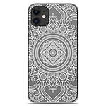 1001 Coques Coque silicone gel Apple iPhone 11 motif Mandala blanc