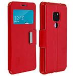 Avizar Etui folio Rouge à fenêtre pour Huawei Mate 20