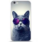 1001 Coques Coque silicone gel Apple iPhone 6 Plus / 6S Plus motif Chat à lunette
