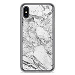 1001 Coques Coque silicone gel Apple iPhone XS Max motif Marbre Blanc