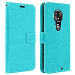 Avizar Etui folio Turquoise pour Motorola Moto G7 , Motorola Moto G7 Plus