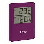 Thermomètre Hygromètre magnétique à écran LCD - Violet - Otio