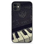 1001 Coques Coque silicone gel Apple iPhone 11 motif Old piano