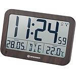 Bresser Horloge Murale Avec Grand écran Lcd Et Affichage De Température Couleur Bois BRE_7001802