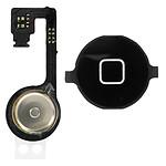 Avizar Bouton Home Complet avec nappe de connexion pour Apple iPhone 4S Noir