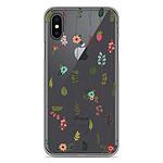 1001 Coques Coque silicone gel Apple iPhone X / XS motif Montée de fleurs