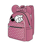 Disney - Sac à dos Casual Fashion Minnie Mouse Pink  Bow 22 x 23 x 11 cm