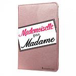 LA COQUE FRANCAISE Etui iPad Air 2 rigide rose gold Mademoiselle pas Madame