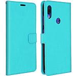 Avizar Etui folio Turquoise pour Xiaomi Redmi Note 7